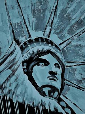 Photograph - Lady Liberty Blue by Rob Hans