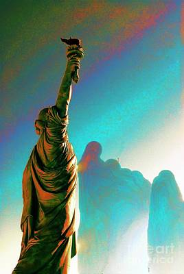 Mixed Media - Lady Liberty by Bob Pardue