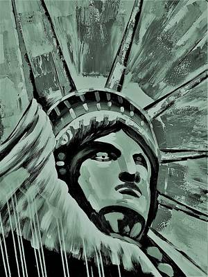 Photograph - Lady Liberty Copper Green by Rob Hans