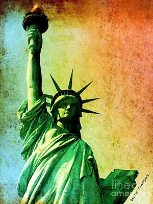 Painting - Lady Liberty by Denise Tomasura