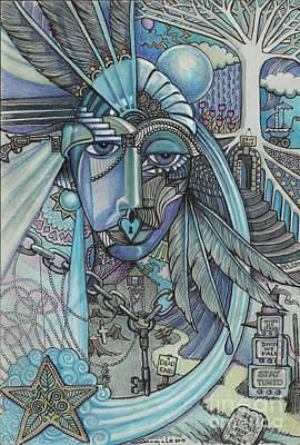 Feeling Mixed Media - Lady Liberty - Don't Talk To Me About Love... by Caroline Czelatko