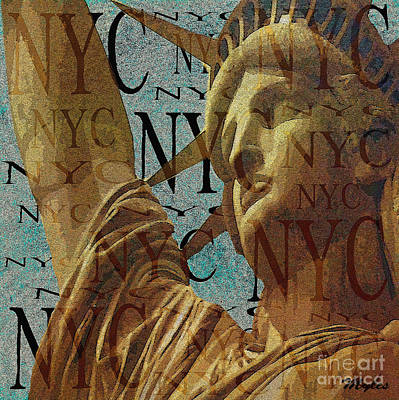 Photograph - Lady Liberty From New York by Saundra Myles