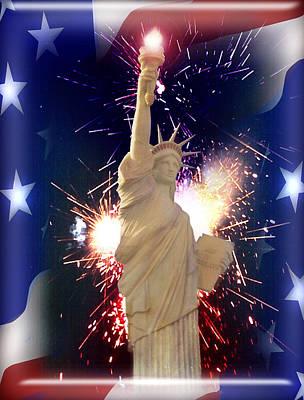 Lady Liberty Art Print by Gravityx9  Designs
