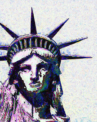 Photograph - Lady Liberty Head 20150928dap by Wingsdomain Art and Photography