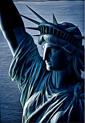 Digital Art - Lady Liberty by Kevin  Sherf