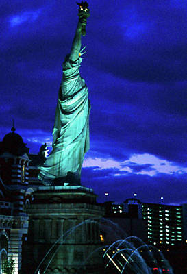 Photograph - Lady Liberty Las Vegas by Gary Brandes