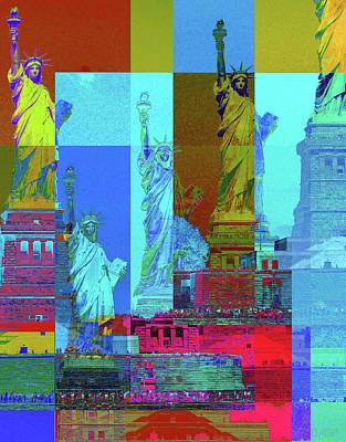 Digital Art - Lady Liberty Lend A Hand To Me by David Pantuso