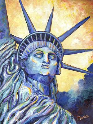 Independence Day Painting - Lady Liberty by Linda Mears
