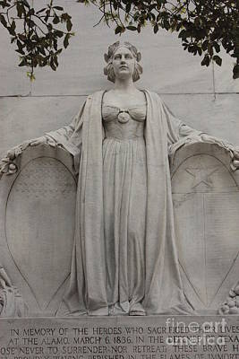 Photograph - Lady Liberty On Alamo Monument by Carol Groenen