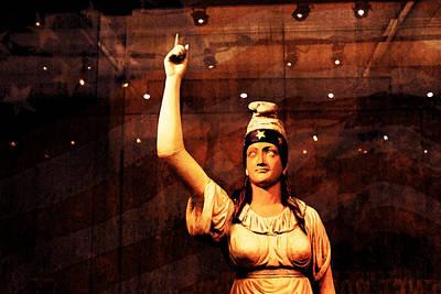 Smithsonian Museum Digital Art - Lady Liberty by Susan Vineyard