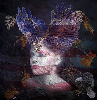 Asleep Mixed Media - Lady Liberty by G Berry