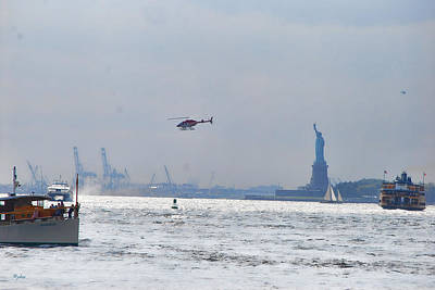 Photograph - Lady Liberty's Typical Day by Paulette B Wright