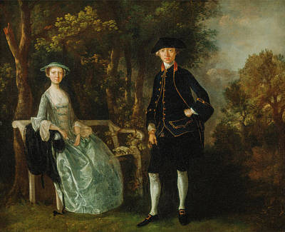Outdoor Still Life Painting - Lady Lloyd And Her Son, Richard Savage Lloyd by Thomas Gainsborough