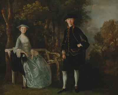 Lady Lloyd And Her Son Art Print by Thomas Gainsborough