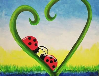 Artistic Painting - Love Bugs by Artist Jamari