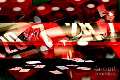 Digital Art - Lady Luck by John Rizzuto