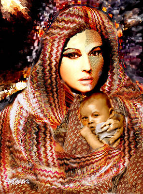 Digital Art - Lady Madonna by Seth Weaver