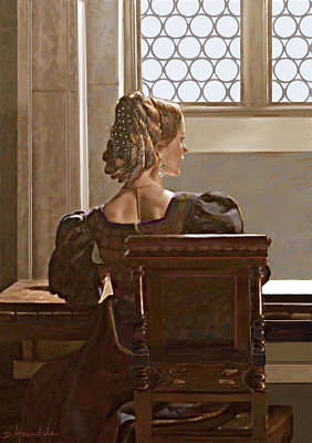 Painting - Lady Near The Window by Dominique Amendola