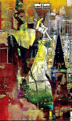 Digital Art - Lady New Orleans by Lynda Payton