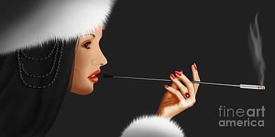 Lady Ninotschka Art Print by Monika Juengling