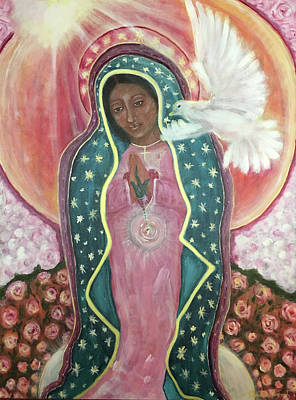 Lady Of Motherly Love Original by Christine Vincent