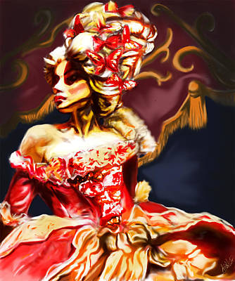 Painting - Lady Of Red And Gold by Michael Amos