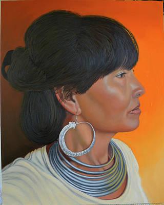 Painting - Lady Of Sapa by Thu Nguyen