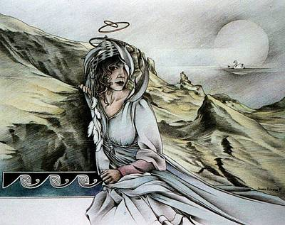 Drawing - Lady Of Skye by Johanna Pieterman