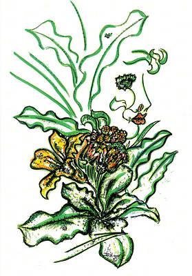 Lady Of The Garden Art Print by Judith Herbert