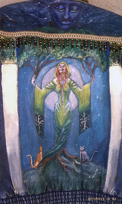 Painting - Lady Of The Green Tree by Janice T Keller-Kimball