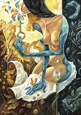 Alejandro Painting - Lady Of The Key by Alejandro Dini