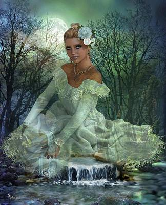 Digital Art - Lady Of The Lake  by Ali Oppy