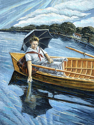 Painting - Lady Of The Lake by Paula Blasius McHugh