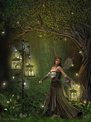 Digital Art - Lady Of The Lanterns by Jayne Wilson