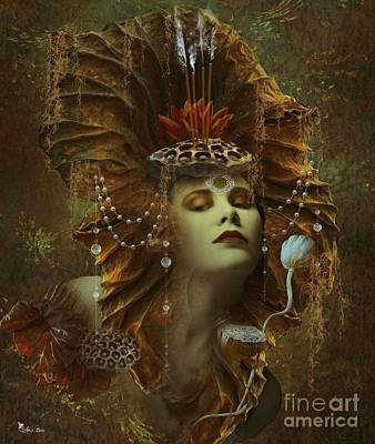 Digital Art - Lady Of The Lotus by Ali Oppy
