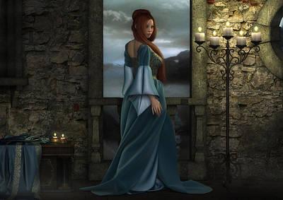 Digital Art - Lady Of The North by Rachel Dudley