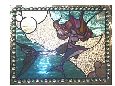 Glass Art - Lady Of The Sea by Liz Lowder