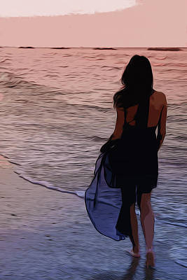 Painting - Lady Of The Silent Water by Andrea Mazzocchetti
