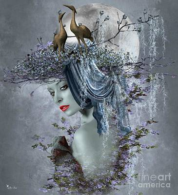 Digital Art - Lady Of The Storks by Ali Oppy