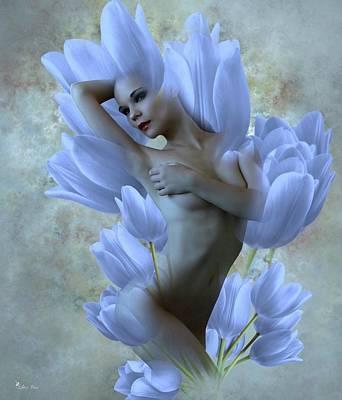 Digital Art - Lady Of The Tulips by Ali Oppy