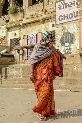 Photograph - Lady Of Varanasi by Werner Padarin