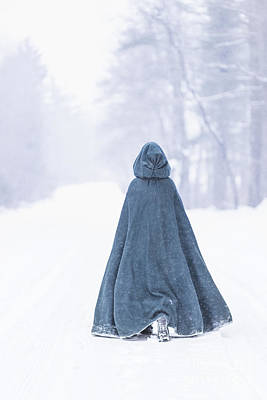 Walking Away Photograph - Lady Of Winter by Evelina Kremsdorf
