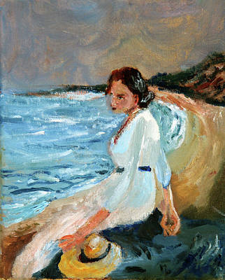 Painting - Lady On The Beach by Michael Helfen