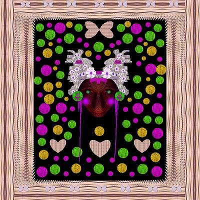 Smiling Mixed Media - Lady Panda In Candy Land by Pepita Selles