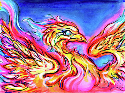 Mixed Media - Lady Phoenix  by Nada Meeks