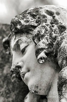Jeffery Johnson Photograph - Lady Sculpture Head At Rest Mount Olivet Cemetery Nashville Tn by Photo Captures by Jeffery