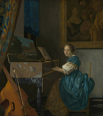 Painting - Lady Seated At A Virginal by Jan Vermeer