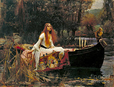 Lady Shalott 1888 Print by Padre Art