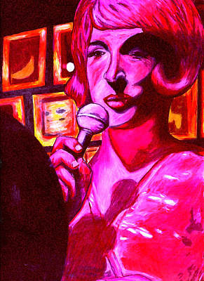 Drawing - Lady Sings The Blues by Elizabeth Hoskinson