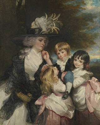 Lady Smith And Her Children Print by Joshua Reynolds